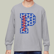 P-Paw - 4930B Fruit of the Loom Youth 5oz. 100% Heavy Cotton HD™ Long-Sleeve T-Shirt