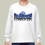 Gradient - 4930B Fruit of the Loom Youth 5oz. 100% Heavy Cotton HD™ Long-Sleeve T-Shirt