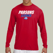 ParsonsLions - N3165 A4 Long-Sleeve Cooling Performance Crew Neck T-Shirt
